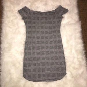 Plaid off shoulder Charlotte Russe dress